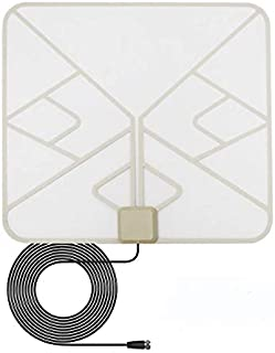 ANTAN Indoor Window Hdtv Antenna Up to 40 50 Miles Range Transparent Soft Design Support 4K 1080P VHF UHF Free view Televi...