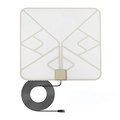 ANTAN Indoor Window Hdtv Antenna Up to 40 50 Miles Range Transparent Soft Design Support 4K 1080P VHF UHF Free view Television Local Channels width Longer 16.5ft Coax Cable