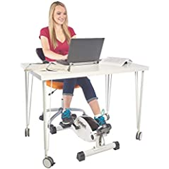 WORKS FOR MOST DESKS: The lowest pedal height is under 9.75 inches pedal rotation height and can work under desks as low as 26 inches. QUIET & SMOOTH: Smooth and whisper quiet bicycle pedal motion with balanced flywheel and twin belt drive that let y...
