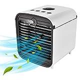 Nifogo Air Mini Cooler Aire Acondicionado Portátil, Mini Enfriador Portátil,Mini Enfriador De Aire, USB Aire Acondicionado 4 en 1 Ventilador Purificador Humidificador para Hogar Oficina (Gris)