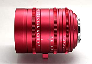 Cinematics Customized cine Lens Sigma 18-35 t2 ef Mount Canon Mount red Golden Blue Color for RedOne Epic Scarlet Raven bmcc bmpcc Black Magic ursa Canon c300 Sony a7