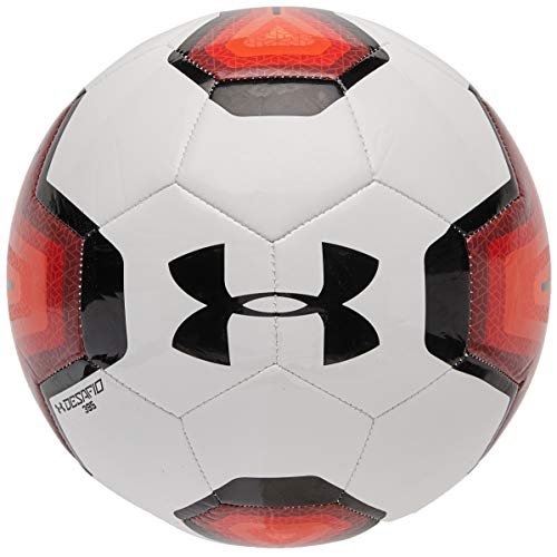 Under Armour DESAFIO 395 Soccer Ball, Size 3, White/Black