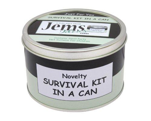 Kit de Supervivencia en una Lata, Regalo Divertido y novedoso para Amigos, Jefes o compañeros de Trabajo, Regalo para jubilación y tarj.