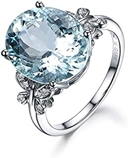Natural Blue Zircon Butterfly Ring