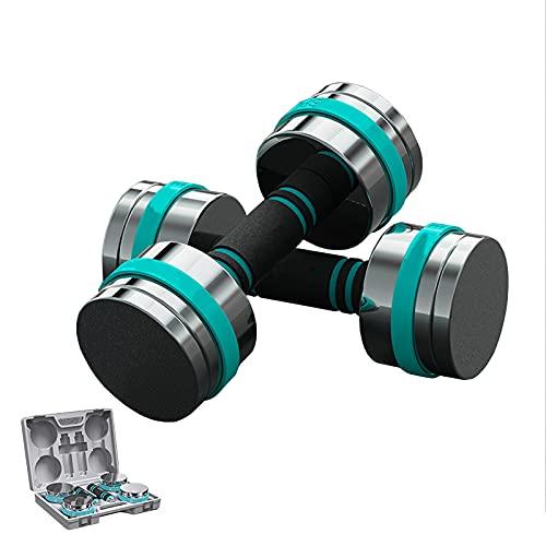 ZHONGPIN Verstellbares Hantel-Gewichtsset, 22 lbs Verstellbares Kurzhantel-Paar für Männer und Frauen mit rutschfestem Griff, Allzweck, Zuhause, Fitnessstudio, Bürotraining Fitness