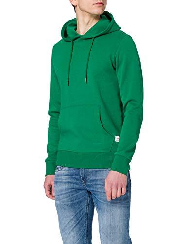 JACK & JONES JJEBASIC Sweat Hood Noos Felpa con Cappuccio, Verde. vestibilità: Reg, M Uomo