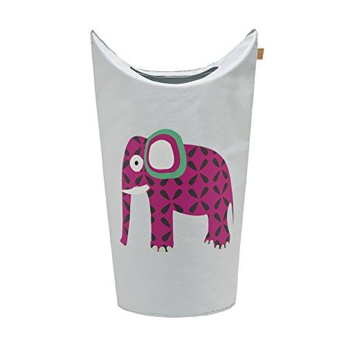 LÄSSIG Kinder Wäschekorb Spielkorb Aufbewahrungskorb Kinderzimmer Organizer Spielzeugkorb/Laundry Bag Wildlife Elephant