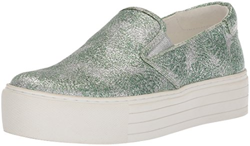 Kenneth Cole New York Women's Joanie Platform Slip On Sneaker, Green/Multi Color, 7 M US