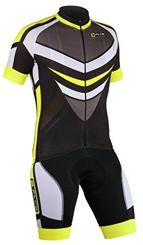 Threeface Completo Estivo Ciclismo Maglia + Salopette Lamp Traspirante Abbigliamento Bici (M)