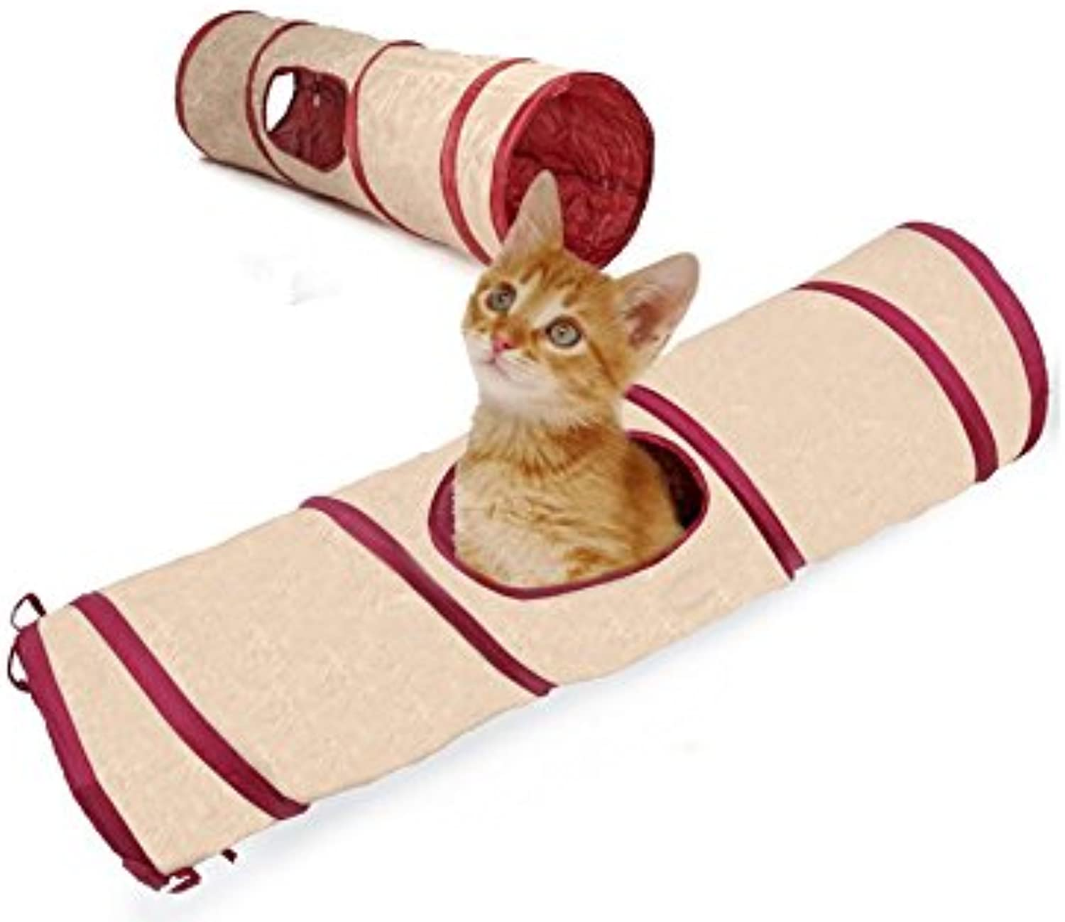 Fashion Shop Nylong Foldable Cat Toy Collapsible Tunnel