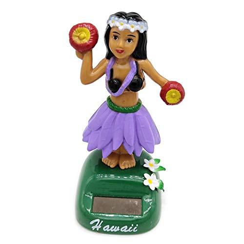Wintesty Solar Wackelfigur Solar Wackel Figur,Solar Wackel Figur Hula Mädchen Figur Hawaii Tänzerin Figur Solar Tanzen Auto Ornament, Ideal Für Die Fensterbank, Auto, Büro, Schreibtisch valuable