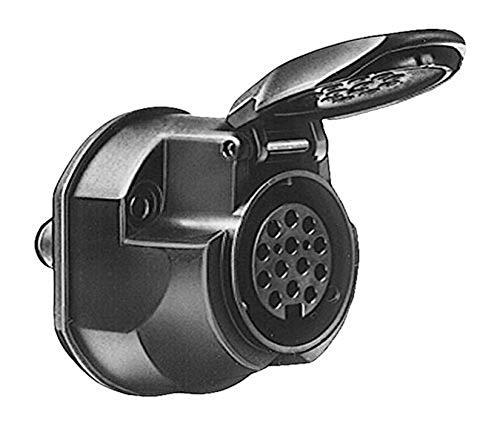 HELLA 8JB 005 949-012 Steckdose - 13-polig - mit Nebelschlussleuchtenabschaltung - Stecker: Schraubkontakt - schwarz