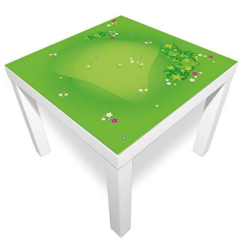 playmatt Tapis de Jeu antidérapant pour Table ou Sol, Motif Herbe avec Boue, sans substances nocives, Lavable, 55 x 55 cm, s
