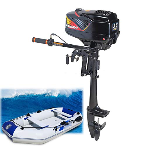 DNYSYSJ 3.6HP 2 Stroke Outboard Boat Motors Inflatable Fishing Boat Engine Electric Outboard Motor for Boats Water Cooling CDI