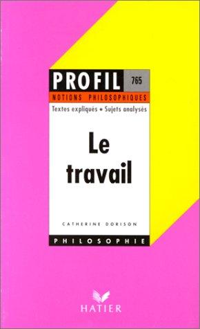 Profil Philosophie - Le travail