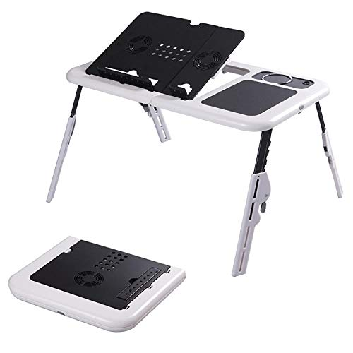 Mini Escritorio para computadora, Soporte para computadora Plegable con Ventilador USB