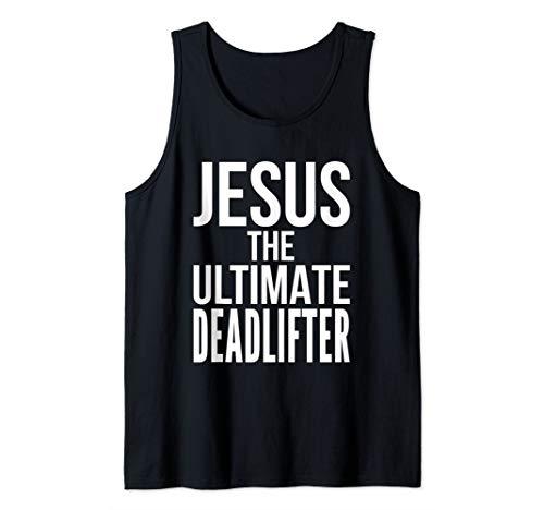 Christian Workout Deadlift Weightlifting Jesus Workout Gym Tank Top