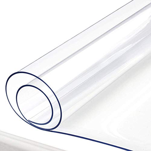 Rectangular PVC Transparente Protector de Cubierta de Mesa, Limpiable Impermeable Vidrio Suave Protector de Mesa, Adecuado para Muebles de Comedor Superficie, Escritorios, 1mm / 1.5mm / 2mm Grueso