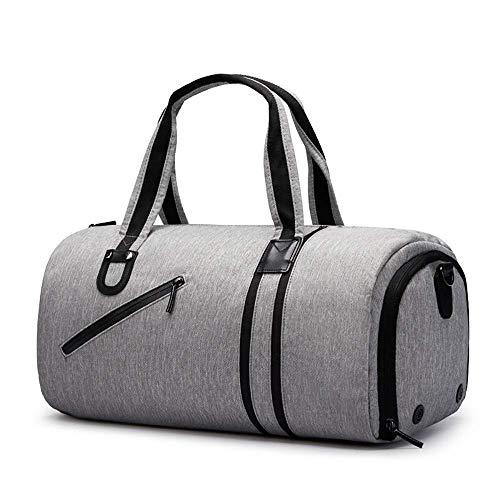 ZOUJUN Borse Palestra for Uomini e Donne - Piccolo Packable Sport Duffle Bag for Le Donne con Scarpe Vano e Wet Pocket Secco ed Umido Sport Gym Bag (26 Litri) (Color : Gray)
