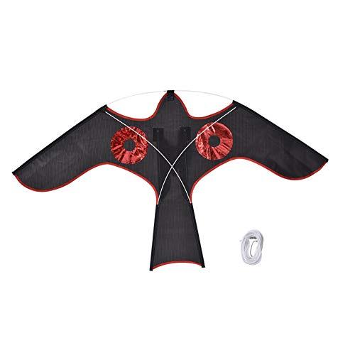 Wisson Cometa de águila Repelente de pájaros con Ojos Reflectantes, emulación Flying Drive Cometa de pájaro Ahuyentador de pájaros Cometa voladora para Patio de Granja para niños Adultos
