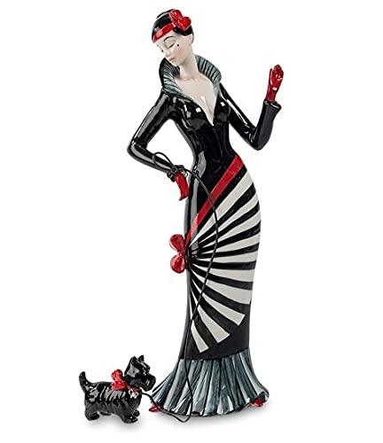 Figura Dama con el Perro 33 cm
