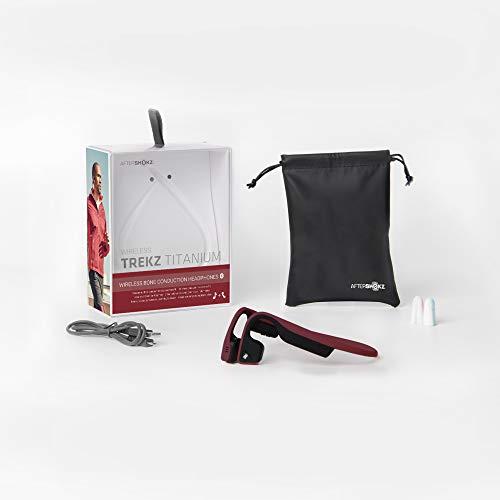 Product Image 9: AfterShokz Titanium Bone Conduction Wireless Bluetooth Headphones, Canyon Red
