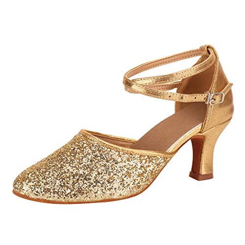 CixNy Sandalen Damen Sommer Plateau Keilabsatz Schuhe Wildleder Schuhe Peep Toe High Heel Bequeme Walzer Modern Dance Schuh Ballsaal Latin Dance Soft Bottom