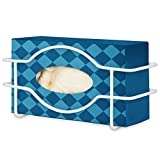 Stock Your Home Glove Box Dispenser (White) - Metal Glove Holder for Wall Mount - Glove Bo...