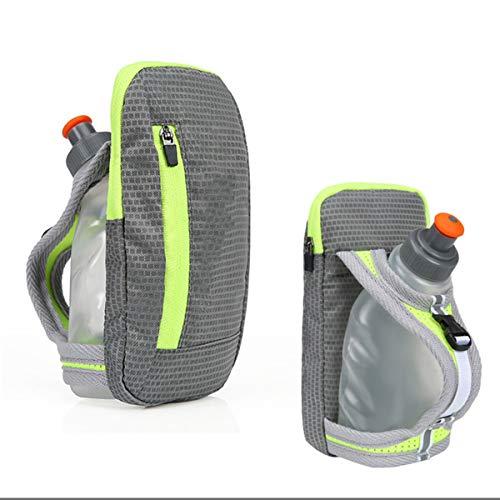 DEDC - Botella de agua con manos libres para correr, ciclismo, senderismo, camping, viajes, sistema de hidratación para corredores y atletas, color gris