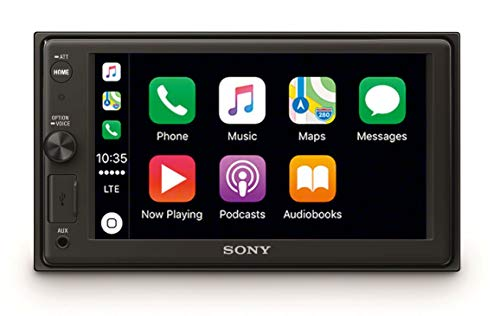 "Sony XAV-AX1000 - Reproductor 2DIN para coche (Apple CarPlay, bluetooth y NFC, pantalla táctil de 6,2"", control por voz, EXTRA BASS, Siri Eyes Free y potencia de 55W x 4, sonido DSO), negro"