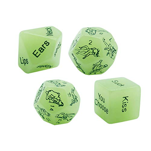 Funny and Romantic Role Playing Dice Luminous Dice Game,Novelty Gift for Honeymoon bacherette Party,Him and Her, Bridal Shower, Groom Roast,Newlyweds, Wedding, Anniversary, Marriage 2019