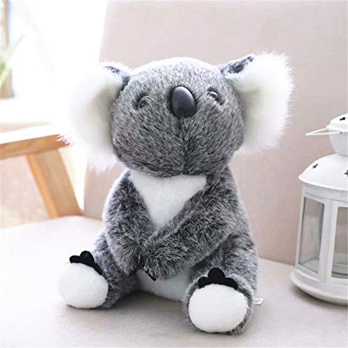 Astrryfarion Lindo Juguete de Peluche simulado Koala Juguete de Peluche s/úper Suave Animal de Peluche mu/ñeca Regalo de cumplea/ños Gris 30cm