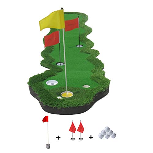 Indoor Golf Mat Golf Putting Green Synthetic Turf Golf Training Turf Mat Golf Practice Mat Best Gift for Friends (Color : Green, Size : 70x360cm)
