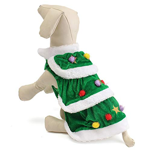 WEIHUIMEI - Falda para Disfraz de Mascota, diseño de árbol de Navidad, para Perros