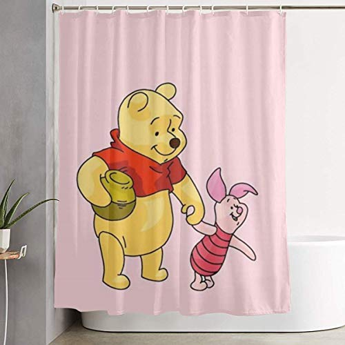 226 MILAIDI Duschvorhang Winie The Pooh and Piglet Love Honey Shower Curtain Decor for Men Women Boys Girls 60x72 in