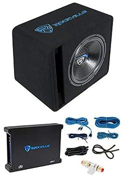 Rockville SK515 Package 15  2000w Loaded K5 Car Subwoofer Enclosure+DB12 Amplifier