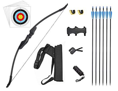 HANSPY Takedown Recurve Pfeil- und Bogen-Set für Erwachsene 40 lbs Longbow Archery Kit Outdoor Hunting