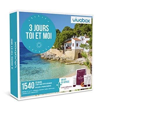 Vivabox - Coffret cadeau couple - 3 JOURS TOI ET MOI - 1540 séjours romantiques + 1 kit de voyage