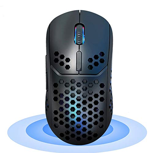 KuWFi - Ratón 2 en 1 con doble modo 2,4 GHz y Bluetooth 5.0 ratón inalámbrico 2400 DPI ratón de ordenador, botones silenciosos para ordenador portátil, PC, gamer, ordenador Mac, iPad y Android