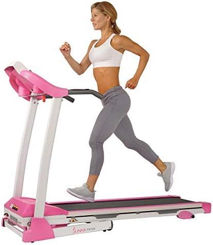 Sunny Health Fitness P8700 Pink Treadmill product image