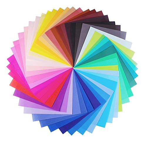 Sunbbingsp Origami Papier, 200 Pcs Quadratisches Papier Bunt, Origami-Papier 20x20, Origami-Papier für Weihnachten Origami DIY Kunst und Bastelprojekte, 50