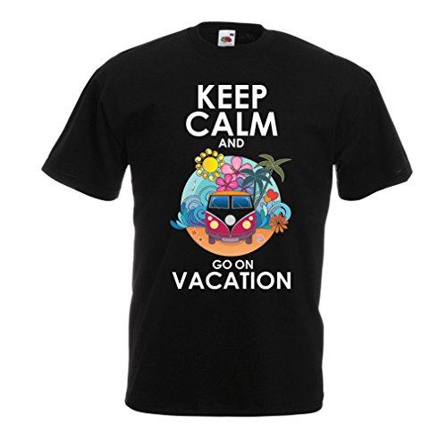 Camisetas Hombre IR de Vacaciones, Trajes Lindos, Ropa de Playa, Ropa de Resort (XXXXX-Large Negro Multicolor)