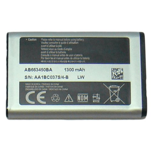 Samsung AB663450BA/Z 1300mAh Rugged Flip Phone Replacement Battery for Rugby 2, 3, 4, Convoy 3, 4.