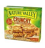 Nature Valley Barras de cereales crujientes, copos de avena integral y mantequilla de maní sin colorantes ni conservantes sin lactosa, aptas para vegetarianos, 1 x 210 gramos (10 barras)