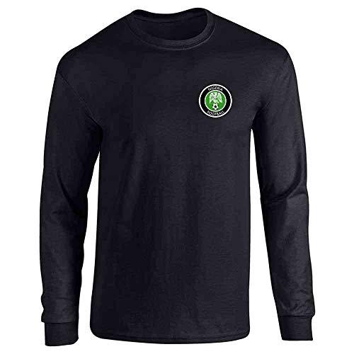 Nigeria Soccer Retro National Team Black XL Full Long Sleeve Tee T-Shirt