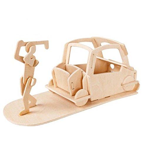 Kinder-Bildungs-3D-Holz-Puzzle Handgemachtes Spielzeug Puzzle Gebäudemodell