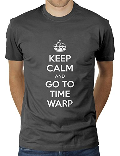Keep Calm and Go to Time Warp Party Minimal Electro Outfit - Herren T-Shirt von KaterLikoli, Gr. L, Anthrazit