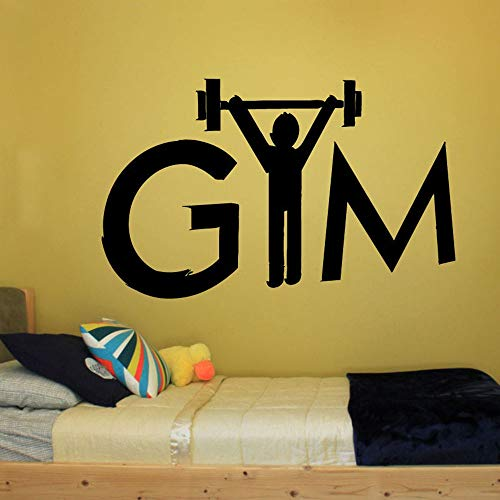 Tianpengyuanshuai Gym Logo Wall Sticker Vinyl Sticker Home Decal Sport Fitness Bodybuilding weegschaal afneembaar