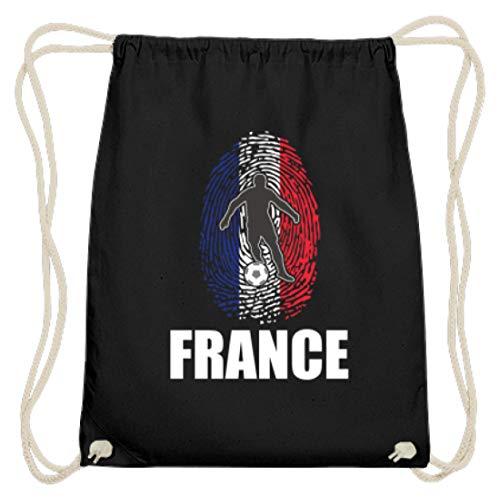 Hochwertige Baumwoll Gymsac - WM Frankreich Trikot Russland 2018 Für Franzose Fans Fußball Fingerabdruck National Design