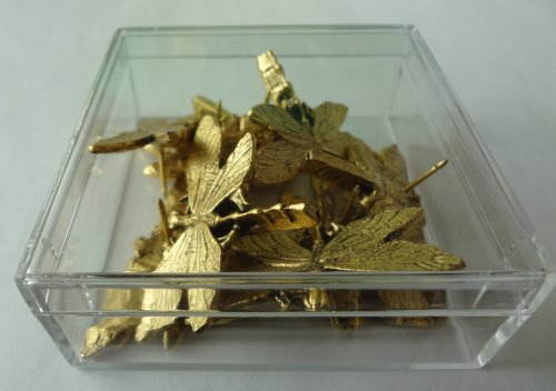 15 pieces Antique Gold DRAGONFLY Push Pins T-105AG Photo #2